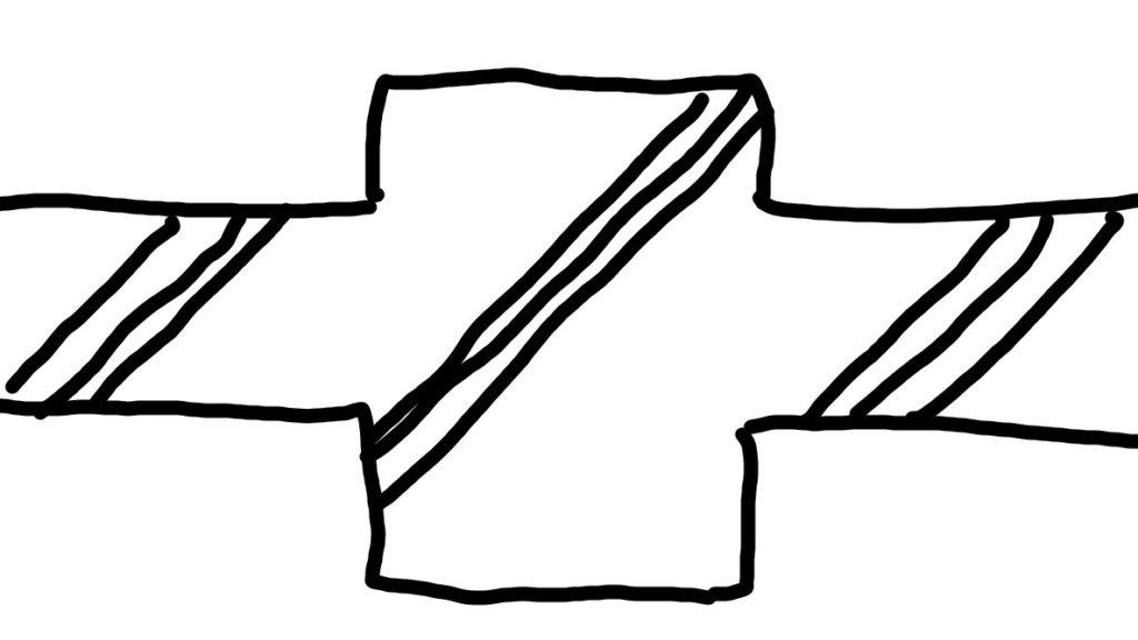コンクリートの図面記号の描き方