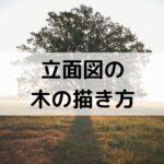 立面図の木の書き方【木は書いた方がかっこいい】